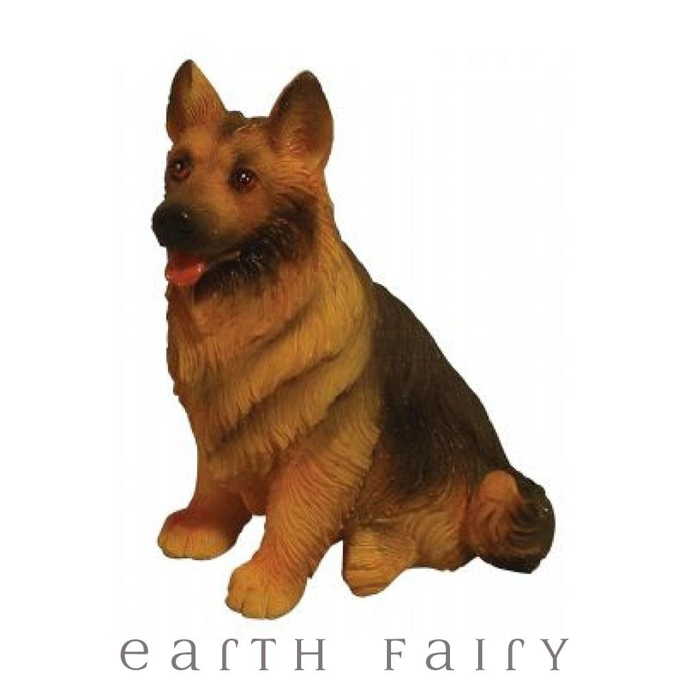 German Shepherd - Sitting | Miniatures & Fairy Gardens - Australia | Earth Fairy