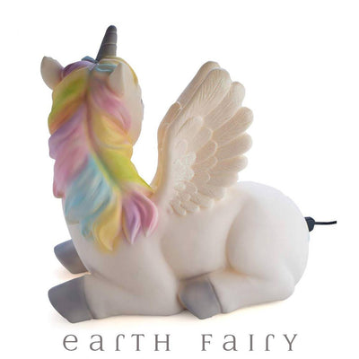 Giant Unicorn Table Lamp | Fairy Inspired Gifts & Decor | Earth Fairy