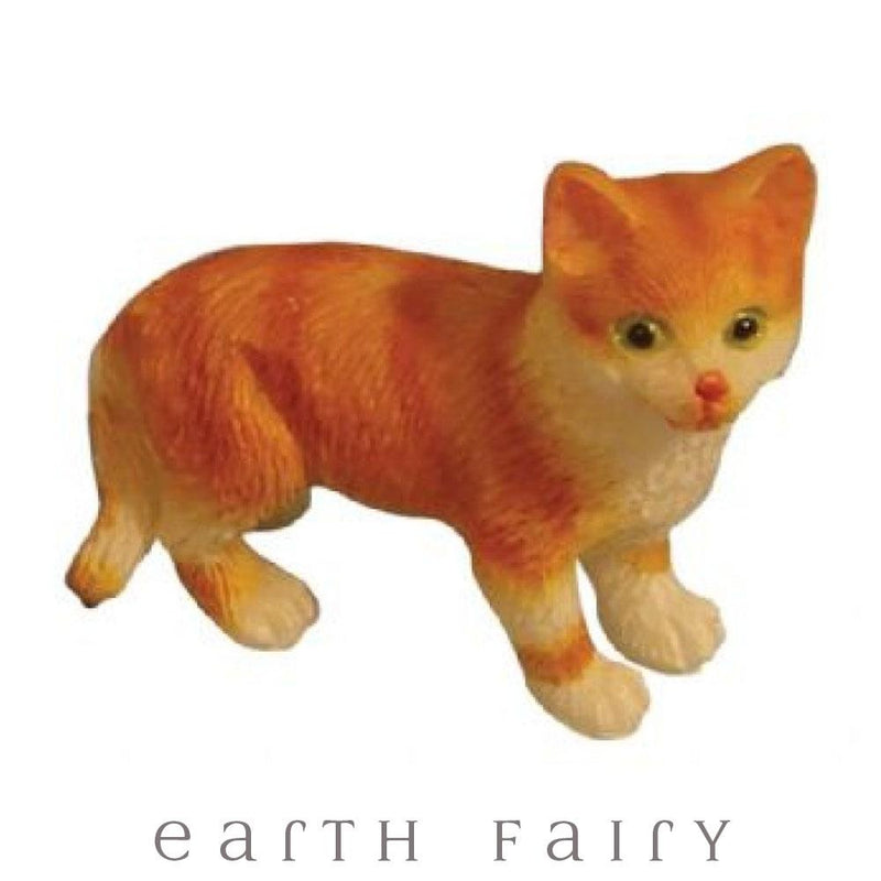 Ginger Cats - Set of 5 | Fairy Garden Animals - Australia | Earth Fairy