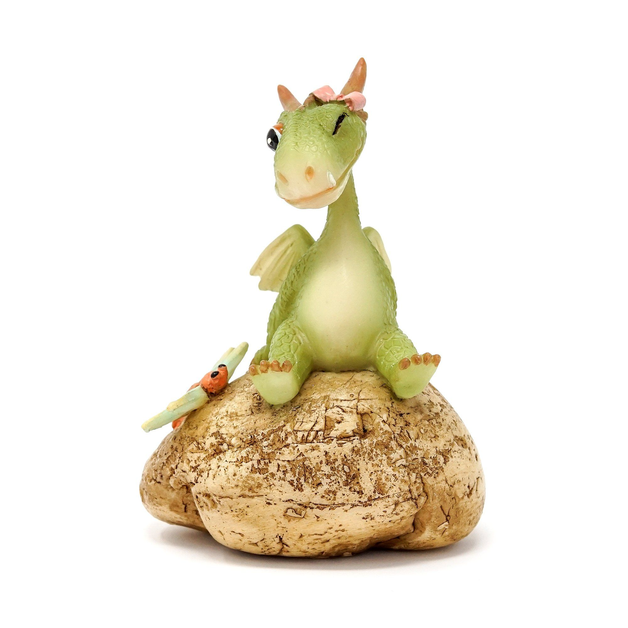 Girl Dragon with Dragonfly | Fairy Garden Animals - Australia | Earth Fairy