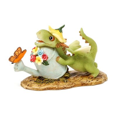 Girl Dragon with Watering Can and Butterfly