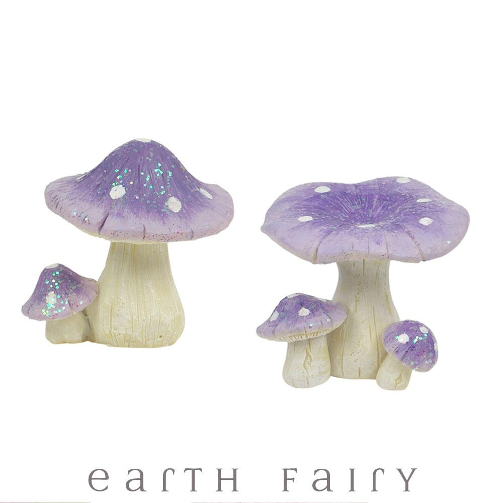 Glitter Mushrooms | Fairy Garden Miniatures & Collectibles - Australia | Earth Fairy