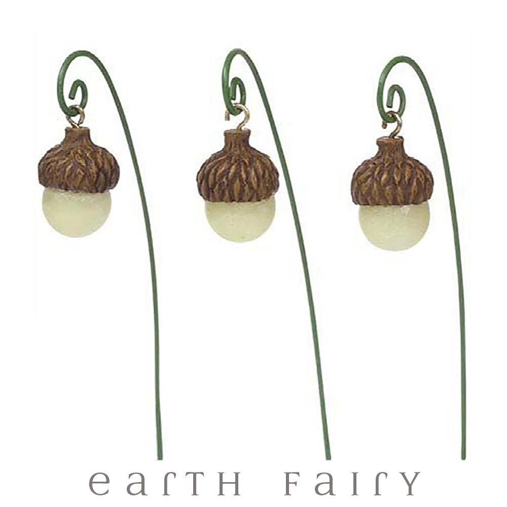 Glow in the Dark Acorn Lights - Set of 3