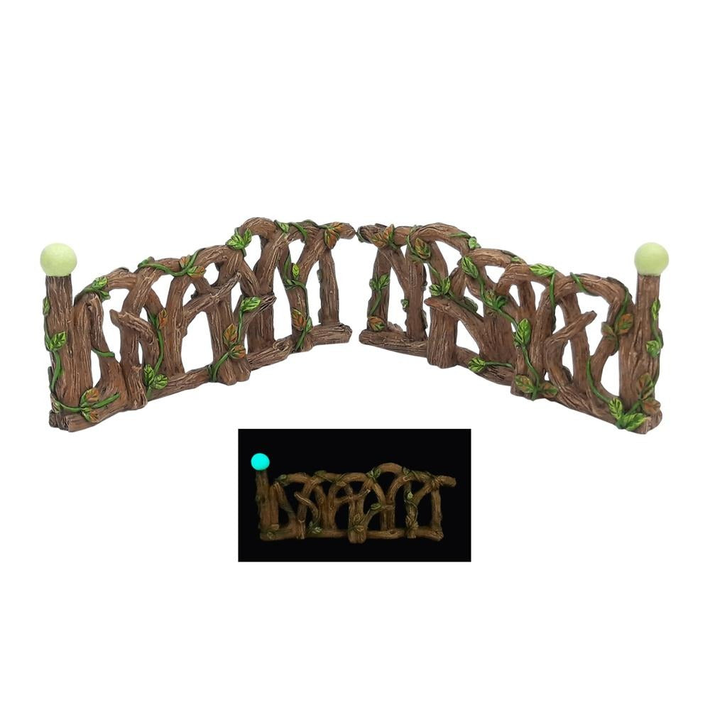 Glow in the Dark Fence - Pair of 2 Fences, from the Glow Fairy Garden Collection by Earth Fairy