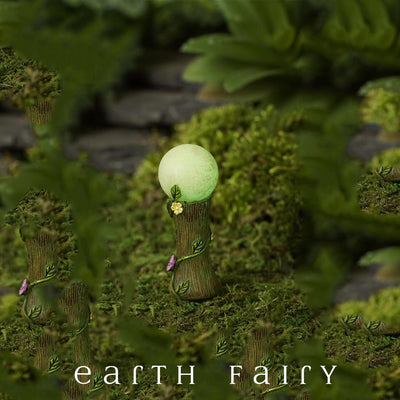 Glowing Gazing Ball - Night View | Fairy Gardens | Earth Fairy