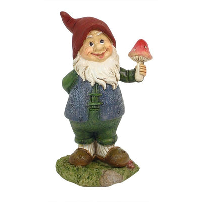 Gnome Holding a Mushroom - Fairy Garden Figurines - Earth Fairy