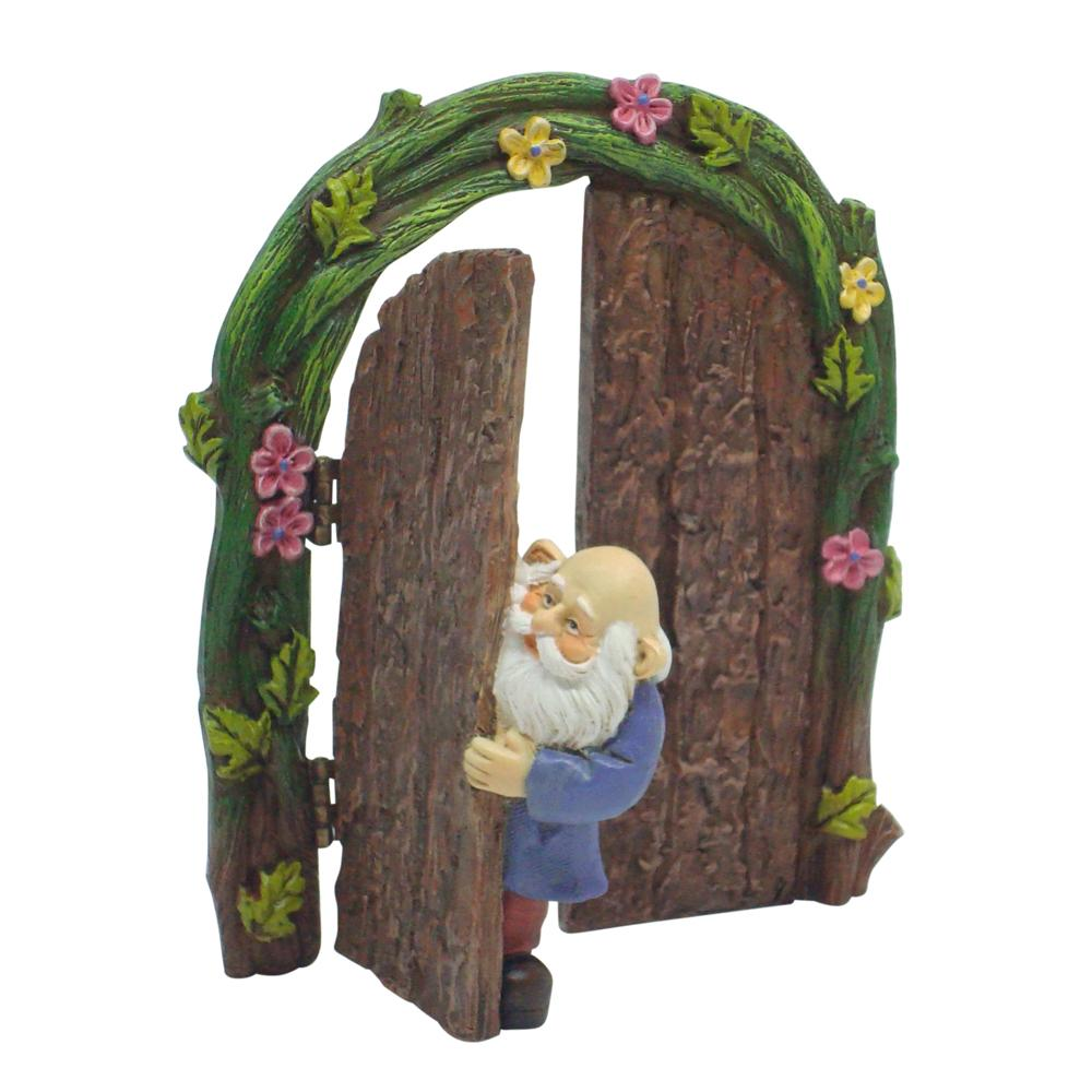 Gnome in Doorway | Fairy Garden Doors - Australia | Earth Fairy