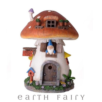 Gnome in a Mushroom House | Fairy Garden Houses - Australia | Earth Fairy