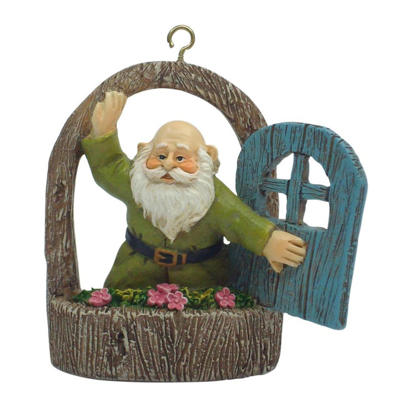Gnome in Window | Fairy Garden Figurines - Australia | Earth Fairy