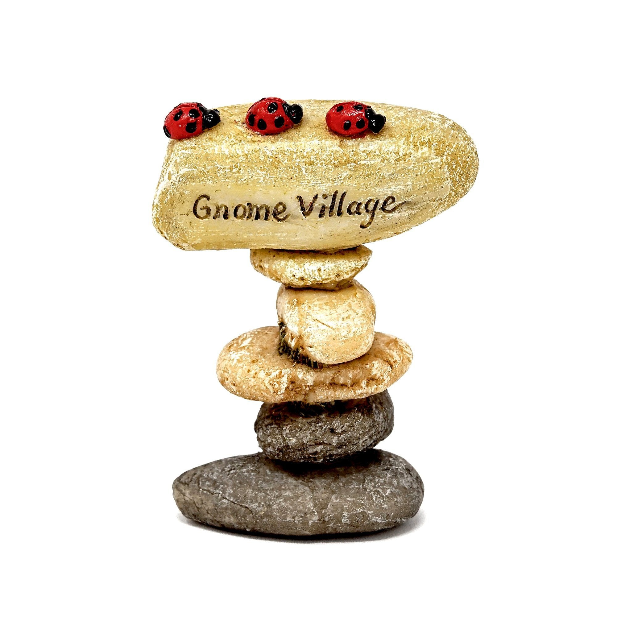 Gnome Village Stone Sign | Fairy Garden Animals - Australia | Earth Fairy