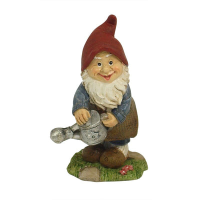 Gnome with Watering Can - Fairy Garden Figurines - Earth Fairy