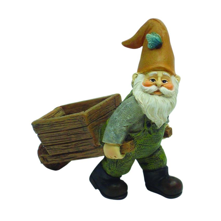 Gnome with Wheelbarrow | Fairy Garden Figurines - Australia | Earth Fairy