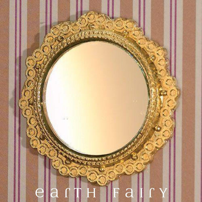 Miniature Gold Mirror, from The Fairy Garden Collection by Earth Fairy