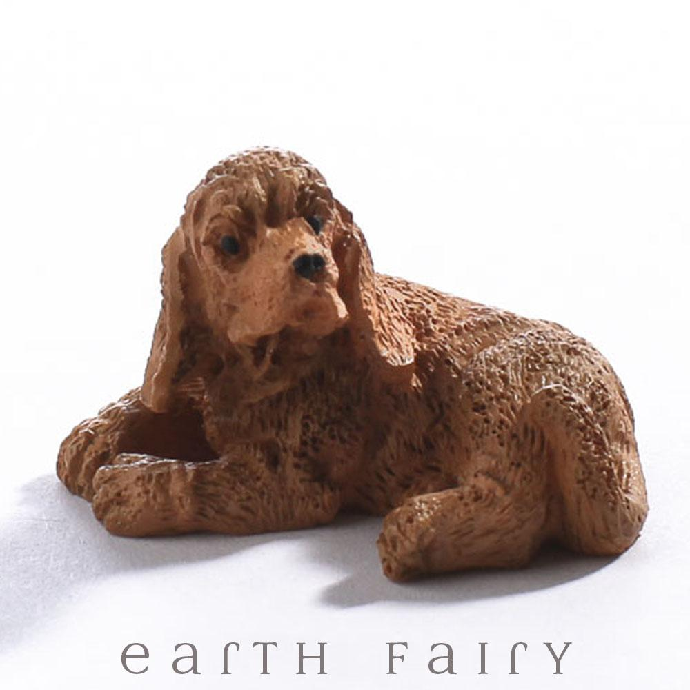 Miniature Golden Cocker Spaniel from The Fairy Garden Miniature Animal Collection by Earth Fairy