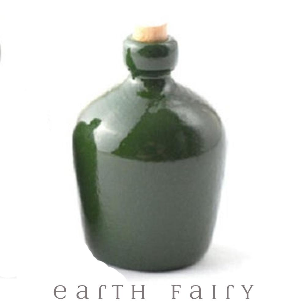 Green Bottle with Cork, from The Miniature Fairy Garden Accessory Collection by Earth Fairy