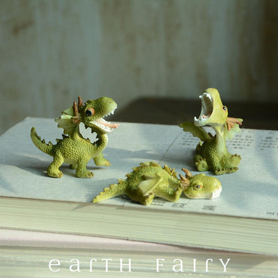 Green Dragon - Happy | Fairy Gardens - Australia - Animals | Earth Fairy