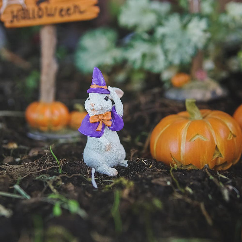 Halloween Bunny in a Witch Costume | Fairy Garden Animals - Australia | Earth Fairy