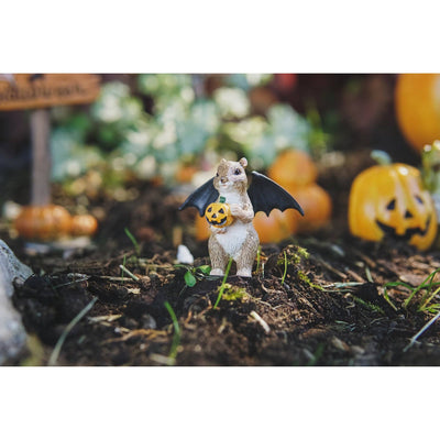Halloween Squirrel with Bat Wings| Fairy Garden Animals - Australia | Earth Fairy