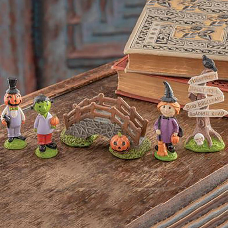 Halloween Town Miniature Fairy Garden (Set Of 5) | Fairy Gifts & Decor - Australia | Earth Fairy