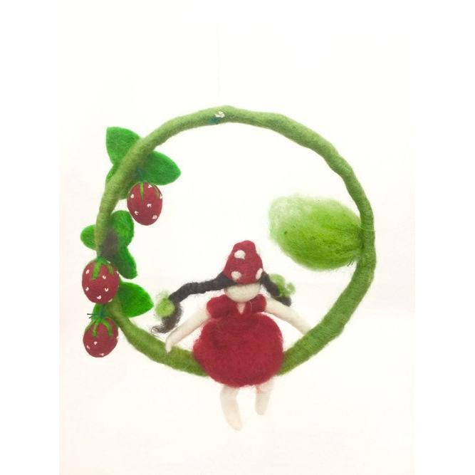 Hanging Strawberry Faery | Fairy Play - Australia | Earth Fairy