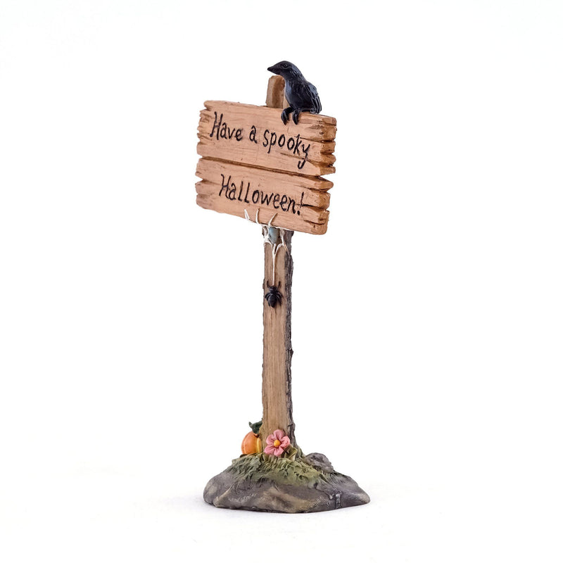 Have A Spooky Halloween Sign | Fairy Garden Landscaping - Halloween | Earth Fairy