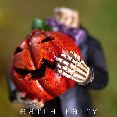 Headless Pumpkin (Close Up View) from The Halloween Miniature Collection by Earth Fairy