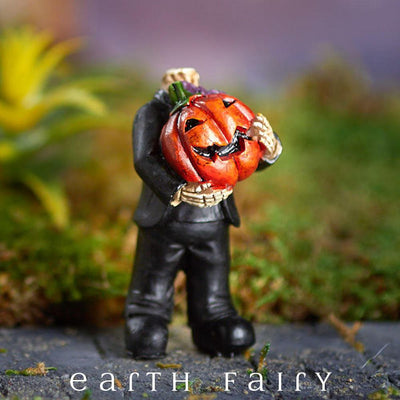 Headless Pumpkin (Displayed in a Garden Setting)  from The Halloween Miniature Collection by Earth Fairy