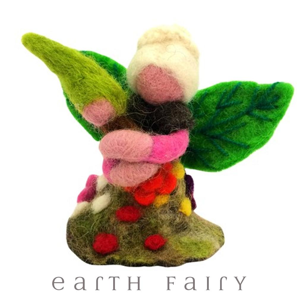 Herbal Faery, from The Wool Felted Toy Collection by Earth Fairy