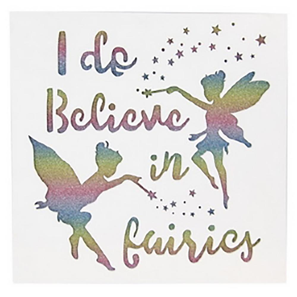 Room Accents I Do Believe in Fairies <br> Wall Art White Earth Fairy