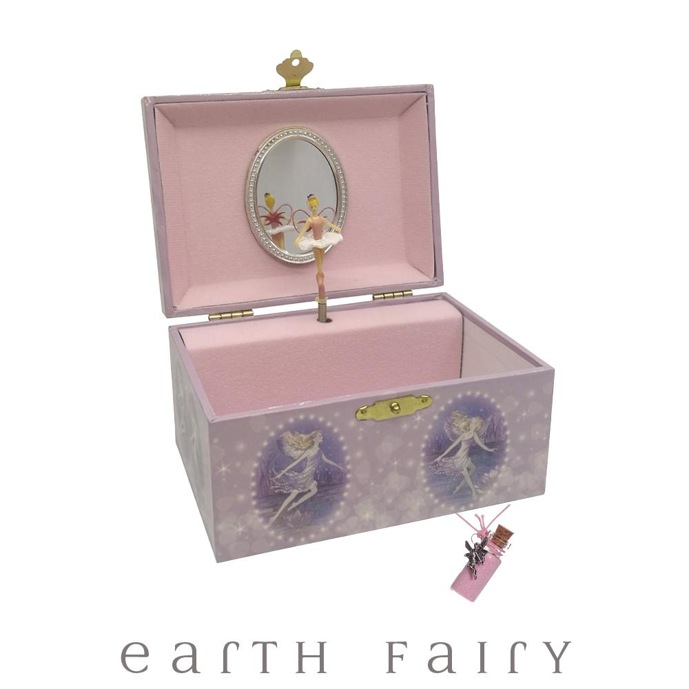 Dancing Fairies Jewellery Box & Fairy Dust Necklace Set from The Fairy Inspired Gift Collection by Earth Fairy