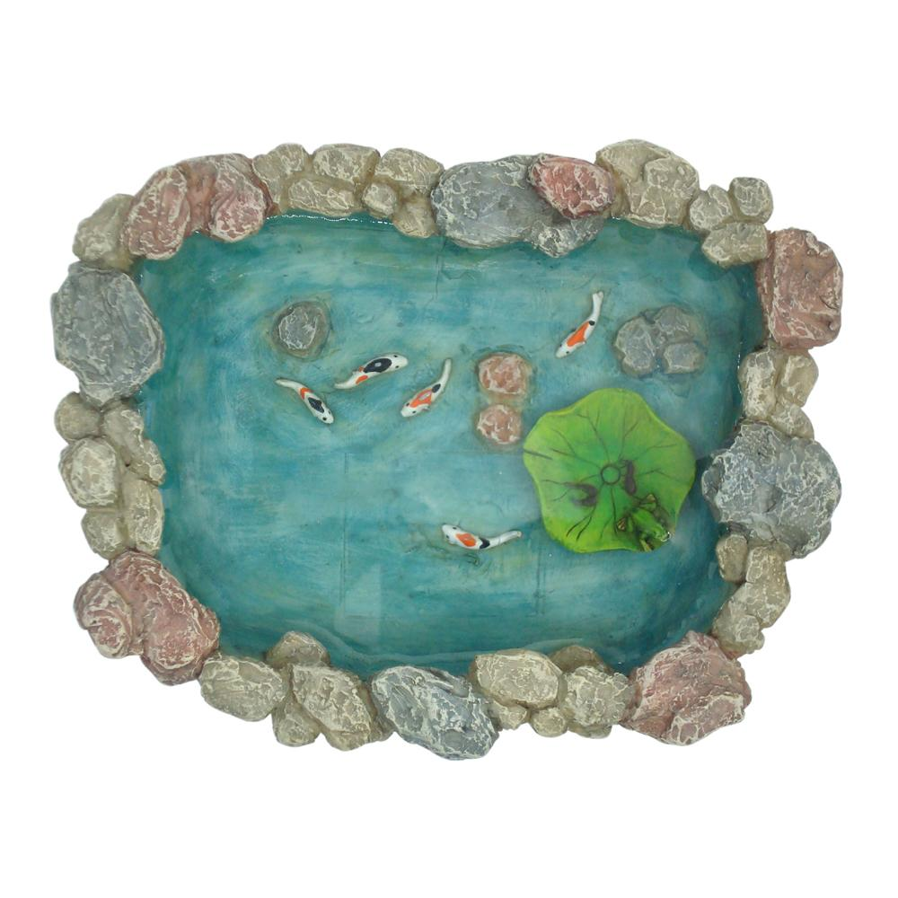 Koi Pond with Floating Lily Pad | Fairy Garden Landscaping - Australia | Earth Fairy