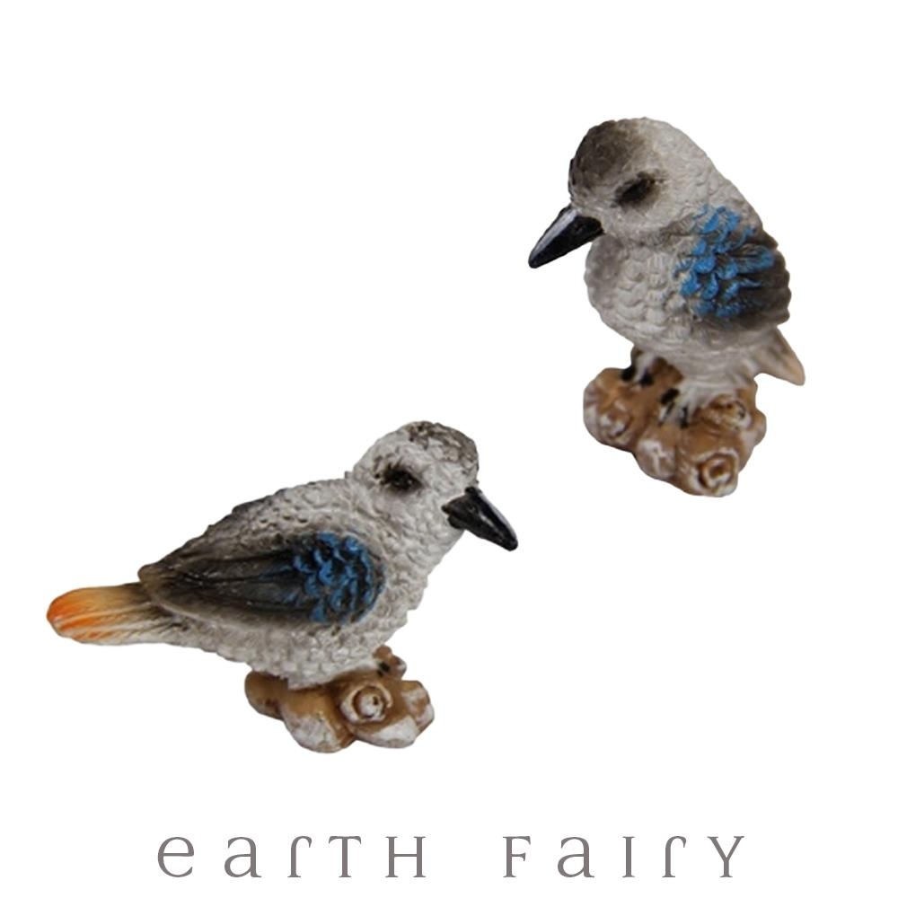 Kookaburras - Set of 2 | Fairy Garden Miniature Animals - Australia | Earth Fairy