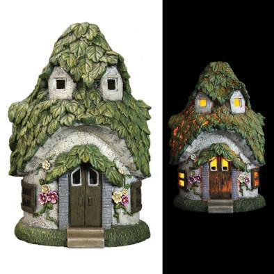 Fairy Houses Leaf Fairy House - Solar Earth Fairy