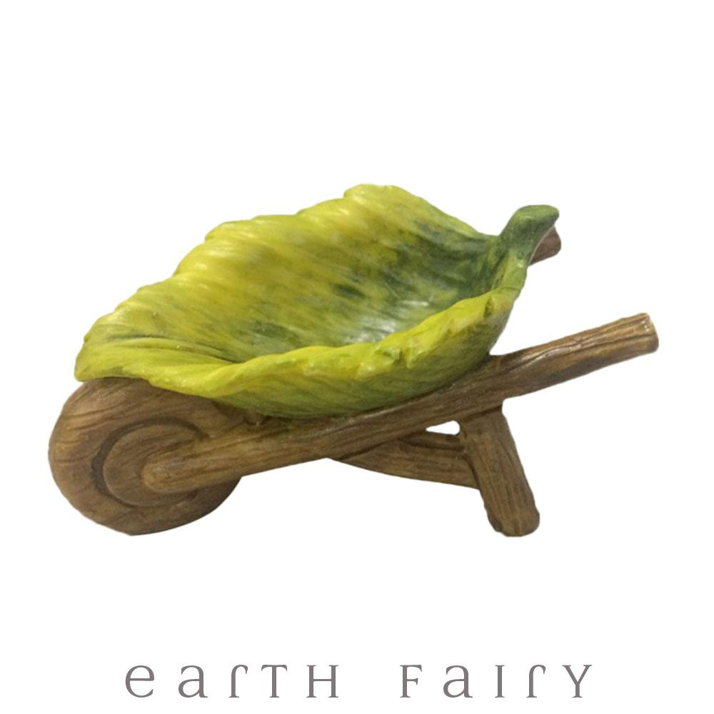 Leaf Wheelbarrow from The Willow Fairy Garden Collection by Earth Fairy