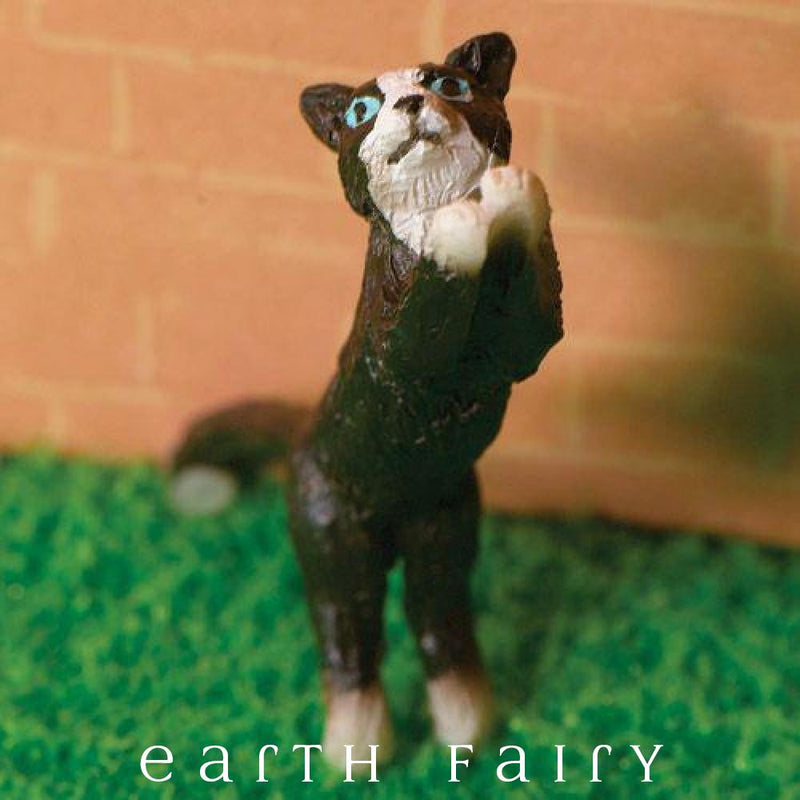 Leaping Cat, from The Miniature Fairy Garden Animal Figurine Collection by Earth Fairy