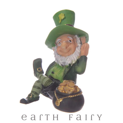 Leprechaun with Pot of Gold, from The Miniature Leprechaun Figurine Collection from Earth Fairy