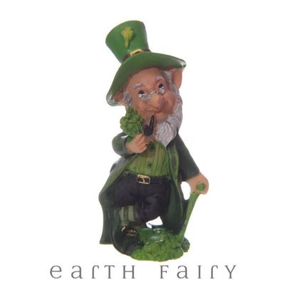 Leprechaun with Walking Stick, from The Miniature Leprechaun Figurine Collection by Earth Fairy