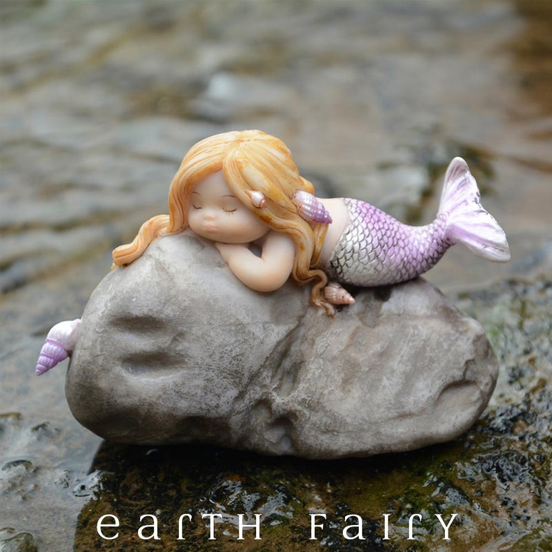 Little Mermaid on a Rock, from The Miniature Mermaid Collection by Earth Fairy
