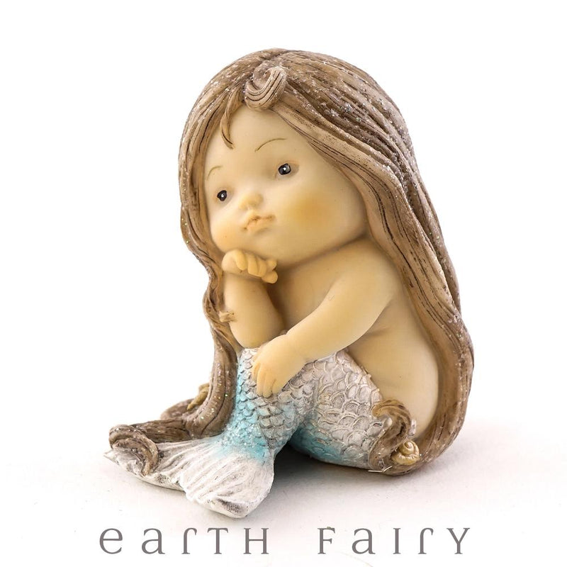 Little Mermaid Sitting, from The Miniature Mermaid Collection by Earth Fairy