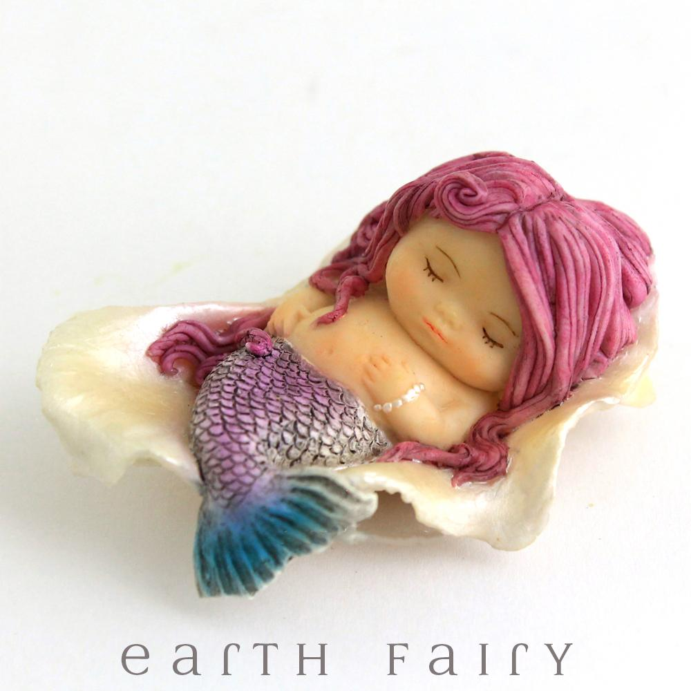 Little Mermaid Sleeping in a Seashell, from The Miniature Mermaid Collection by Earth Fairy