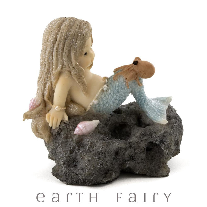 Little Mermaid with Baby Octopus, from The Miniature Mermaid Collection by Earth Fairy