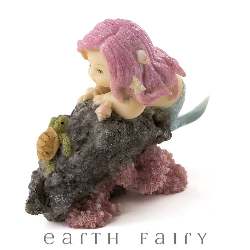 Little Mermaid with Baby Sea Turtle, from The Miniature Mermaid Collection by Earth Fairy