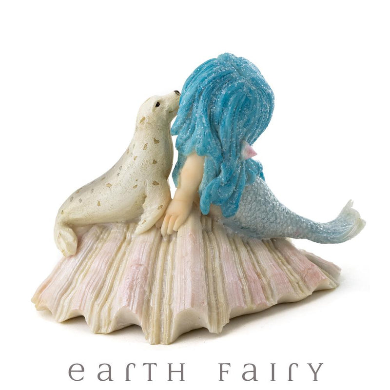 Little Mermaid with Baby Seal, from The Miniature Mermaid Collection by Earth Fairy