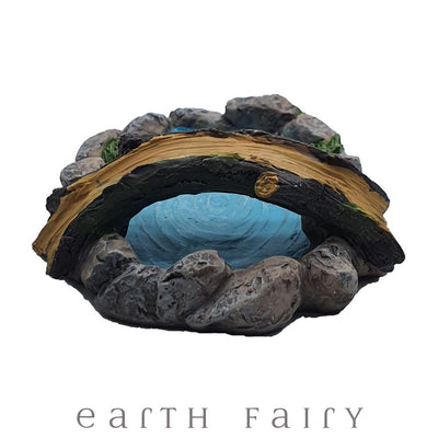 Little Pond with Tree Branch Bridge from The Fairy Garden Pond Collection by Earth Fairy
