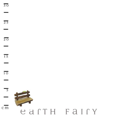 Log Bench Seat with Scale Ruler | Fairy Garden Accessories - Australia | Earth Fairy