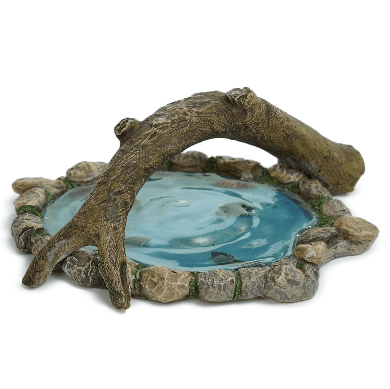 Fairy Gardens Log Bridge Pond Earth Fairy