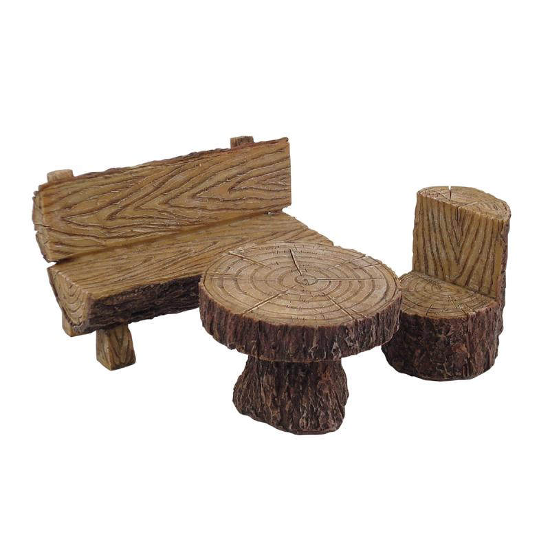Log Dining Setting