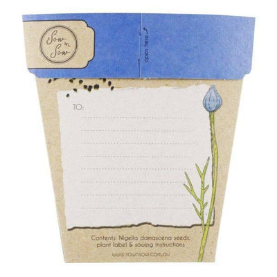 Books & Stationery Love In A Mist Gift of Seeds Earth Fairy