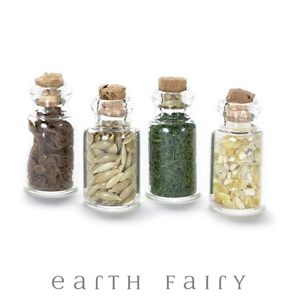 Magical Herb Jars - Set of 4 | Fairy Garden Miniatures - Australia | Earth Fairy