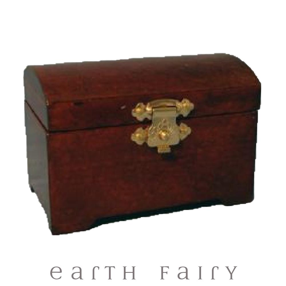 Miniature Mahogany Chest from The Miniature Fairy Garden Accessory Collection by Earth Fairy
